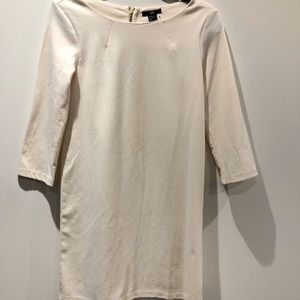 H&M off white dress with 3/4 length sleeves